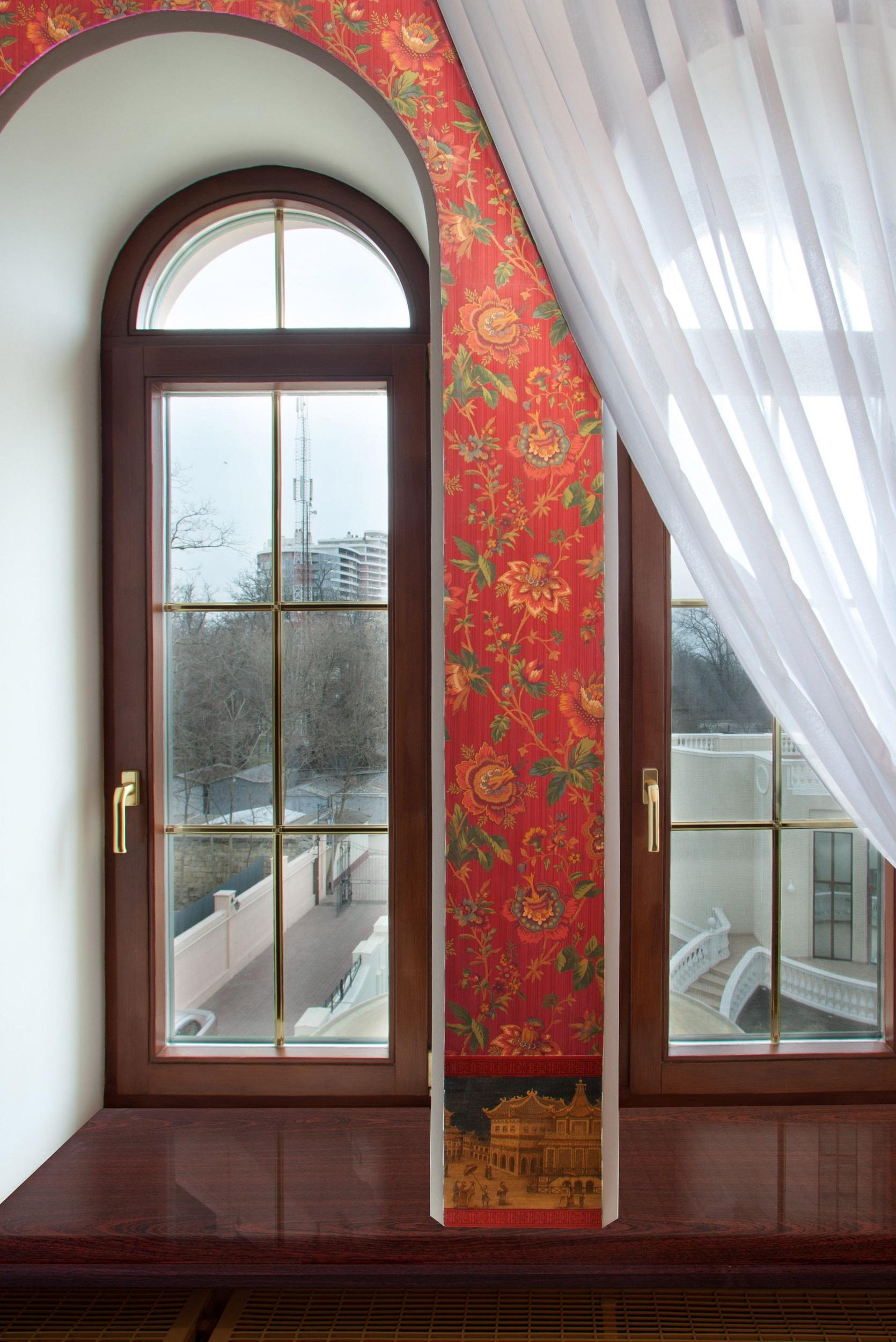Арочные окна - фото красивого и аккуратного архитектурного о.